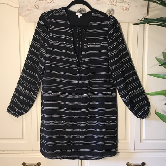 Tavik Dresses & Skirts - Tavik Black & White Pin Stripe Dress, Size S